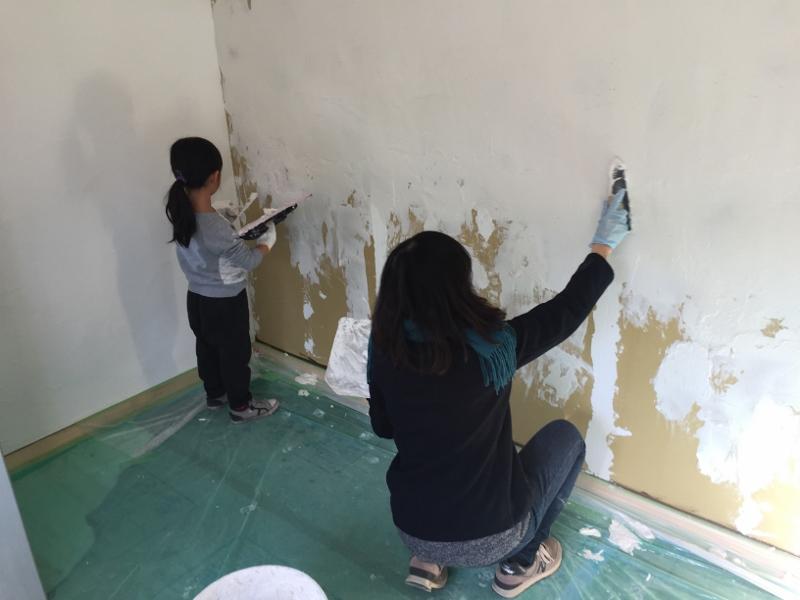 漆喰塗り体験