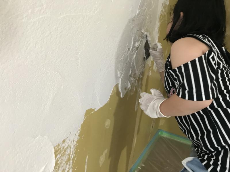 厚木市M様邸漆喰塗り体験手形愛着