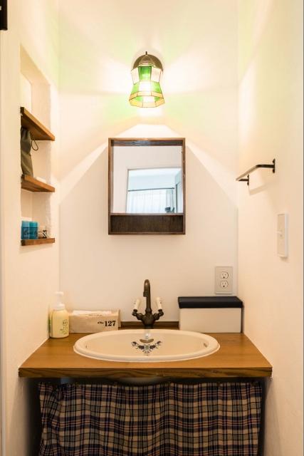 ライフステージのオリジナル造作洗面化粧台