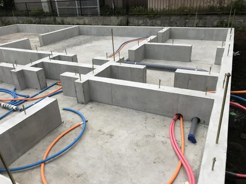 基礎工事コンクリート打設
