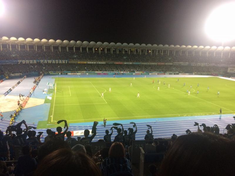 等々力競技場サッカー観戦川崎フロンターレゴール