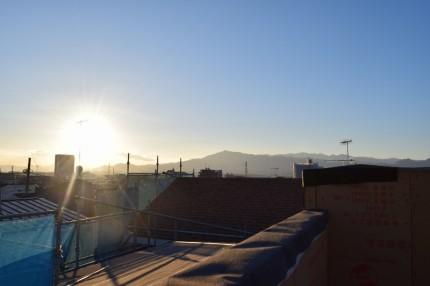 屋上バルコニーからの景色