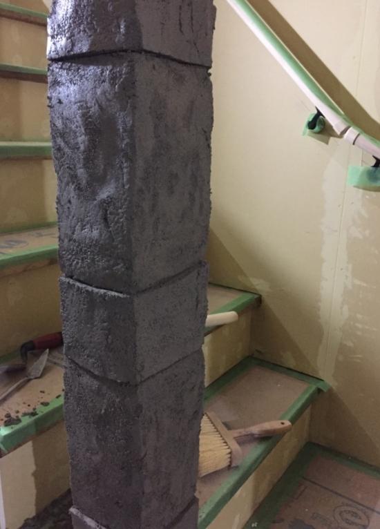 石をつみあげたようなデザインコンクリート