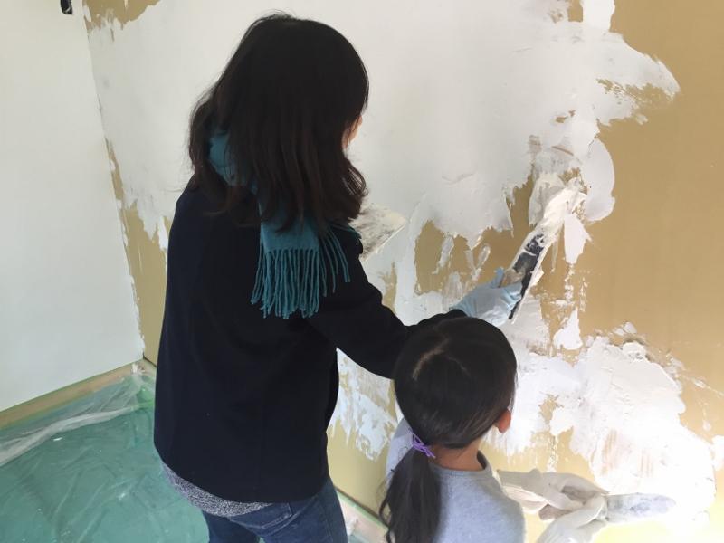 漆喰塗り挑戦