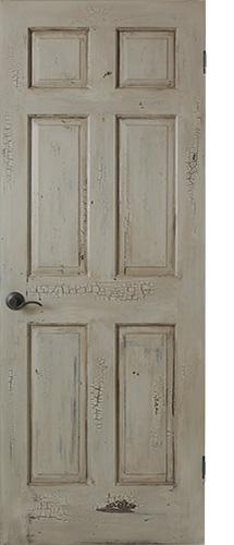 クラッキング技法で仕上げたドア