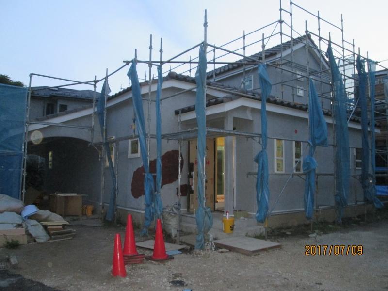 施工中の建売住宅