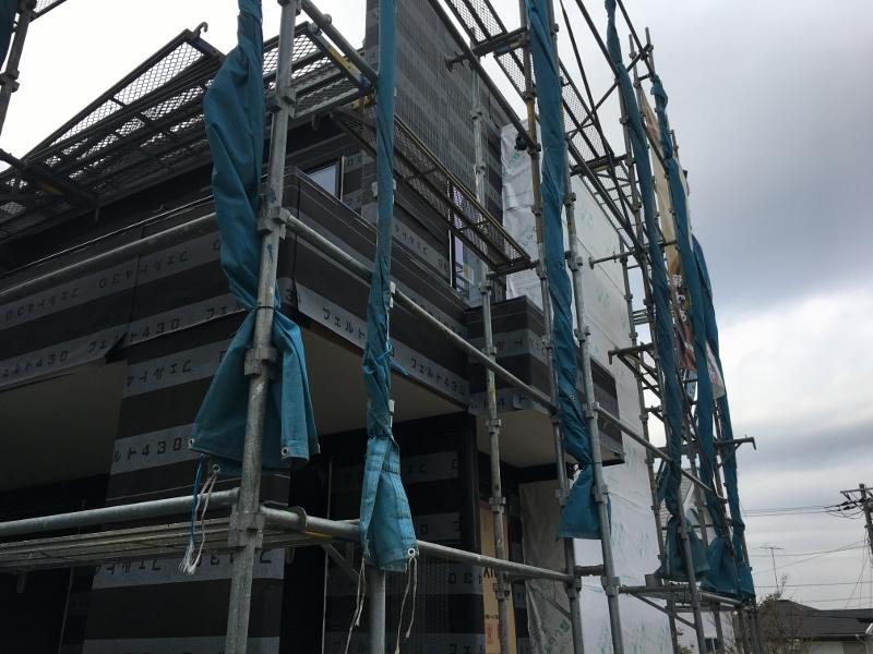 鎌倉市高野 建売住宅工事順調に進んでおります