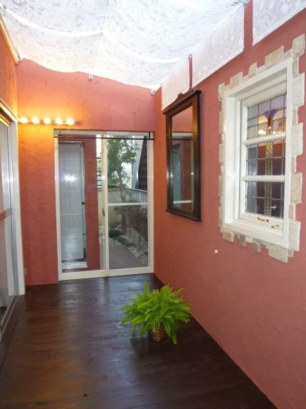 リフォーム施工事例(外壁ピンクです)